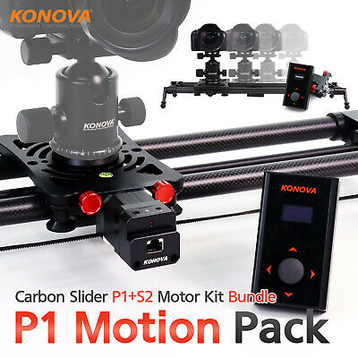 "Konova Motorized Bundle P1 Carbon Camera Slider 80cm(31.5"") with Bag Parallax"
