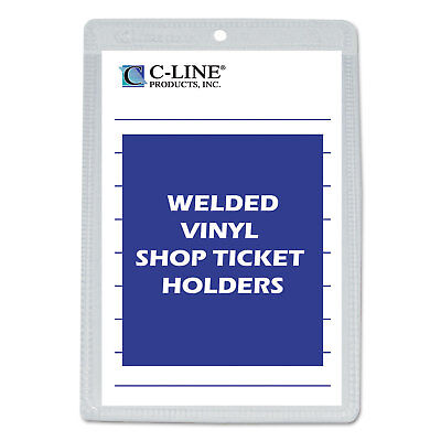 C-Line Clear Vinyl Shop Ticket Holder Both Sides Clear 25