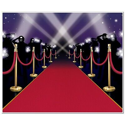 Party Red Carpet Insta Mural Theme Awards Night Hollywood VIP Decoration - Red Carpet Themed Decorations
