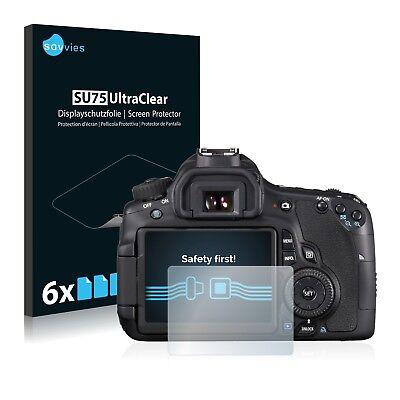 6x Displayschutzfolie für Canon EOS 60D Schutzfolie Klar Folie Displayfolie