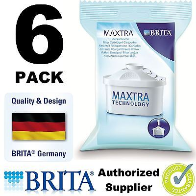 6 Pack BRITA MAXTRA New Water Filter Jug Refills Genuine Replacement Cartridges
