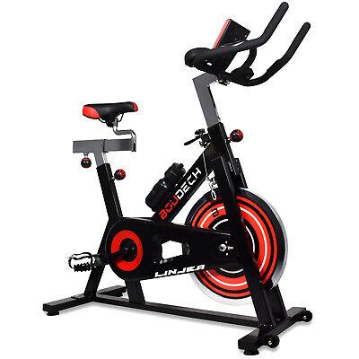Bici Da Spinning Profesional Con Volante 18KG, Pedales Ergonómicas Y LCD