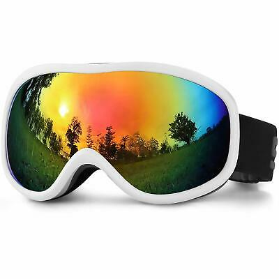 SPOSUNE OTG Ski Goggles Over Glasses Snow Snowboard w/ Anti Fog Dual Lenses