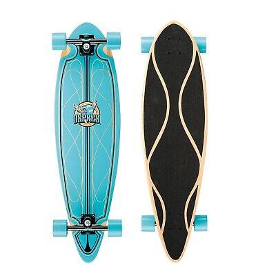 Osprey 36in Complete Skateboard Pintail Longboard/Cruiser - Helix Blue