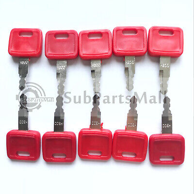 10pcs Fits John Deere Hitachi H800 Excavator Key For Case New Holland Jd Nh