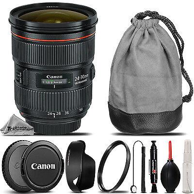 Canon EF 24-70mm f/ 2.8 L II USM Lens +Lens Hood +U.V Filter - Saving Kit Bundle