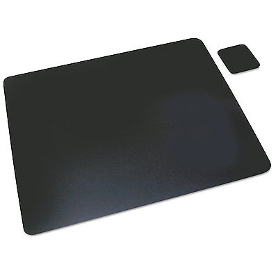 Artistic Leather Desk Pad Wcoaster 19 X 24 Black 1924le