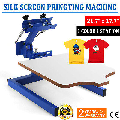 1 Color 1 Station Silk Screen Printing Machine Press Equipment T-shirt Pressing