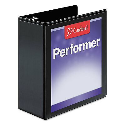Cardinal Performer Clearvue Slant-d Ring Binder 4 Cap 11 X 8 12 Black 17811
