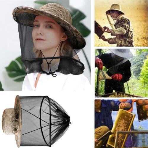 Beekeeping Beekeeper Cowboy Hat Mosquito Bee Insect Face Veil Net Protector Cap