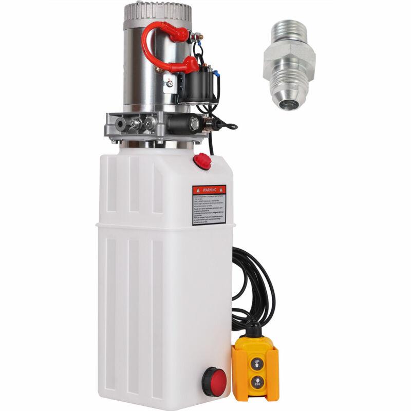 HONYTA 10 Quart Hydraulic Pump Dump 12V DC Trailer Single Acting Power Unit