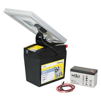horizont-Cerca eléctrica dispositivo solar de 9V/12V incluye panel solar batería
