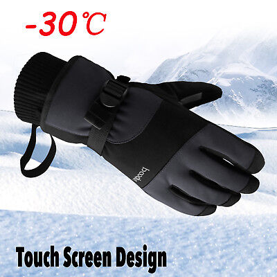 (Men -30℃ Waterproof Winter Ski Snow Snowboarding Thermal Warm Thinsulate Gloves)