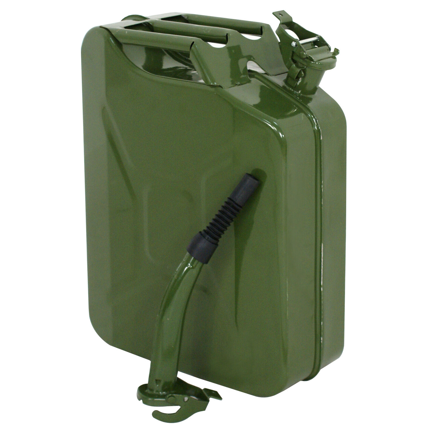 Green 20L Liter (5 Gallon Gal) Jerry Can Backup Steel Tank Fuel Gas Gasoline Business & Industrial