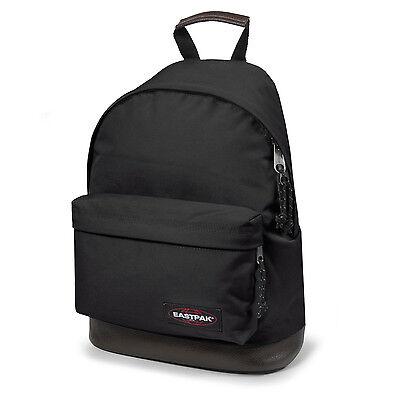 Eastpak Wyoming Rucksack mit Lederboden schwarz black Schultasche Schulrucksack