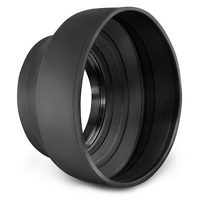 67MM Collapsible Rubber Lens Hood for Canon Rebel T6i T5i T5 T4i T3i T3 T2i SL1 1 Collapsible Rubber Lens