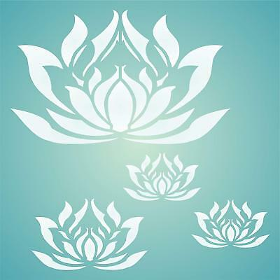Lotus Flowers Stencil Reusable For Painting Best Quality Scrapbooking Wall