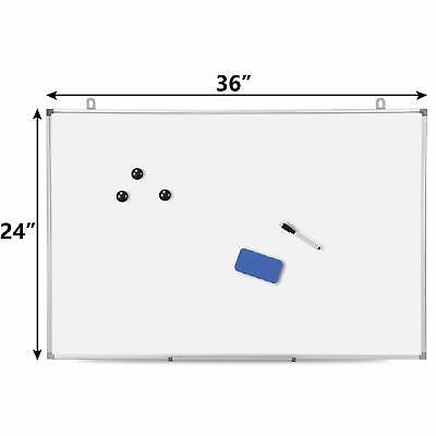 Aluminum Frame Magnetic Whiteboard 36 X 24 Dry Erase Wall Hanging Board