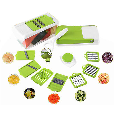 Gemüseschneider 10tlg. Küchen Reibe Gemüse Schneider Würfel Hobel Gemüsehobel