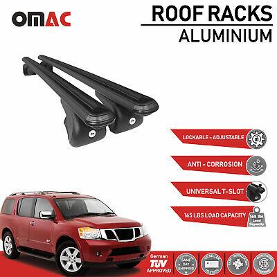 Roof Racks Cross Bars Carrier Rails Black for Nissan Armada 2010-2015