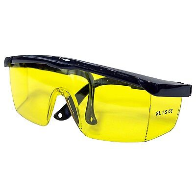 Safety Goggles Glasses Eye Protection Yellow Lens Construction Builder Work New