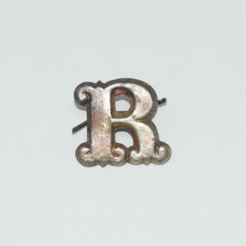 "Original Brass Zouave-Style Letter ""R"" Hat Insignia - Civil War Era"