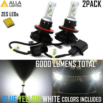 Alla Lighting H13 LED Headlight Bulb,Luxury 3 Colors Get Noticed,5-star