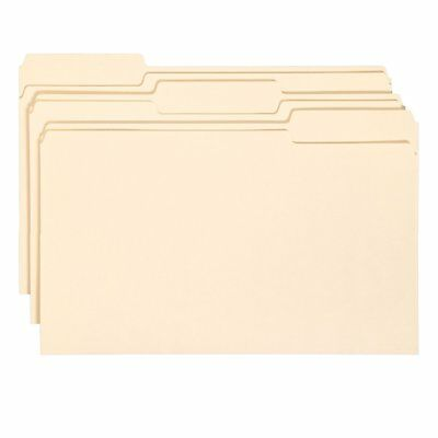 New Smead Interior File Folder 13-cut Tab Legal Size Manila 15305 3 Folders