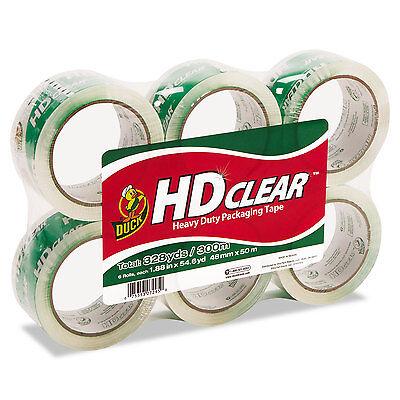 Duck Heavy-duty Carton Packaging Tape 1.88 X 55yds Clear 6 Rolls Cs556pk