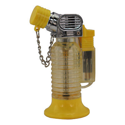 Stand Alone Single Jet Flame Butane Cigarette Cigar Torch Lighter – Yellow