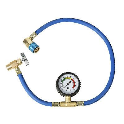 Aain Car Havc Ac Refrigerant R-134a Charging Hose Gauge Kit Low Pressure Gauge