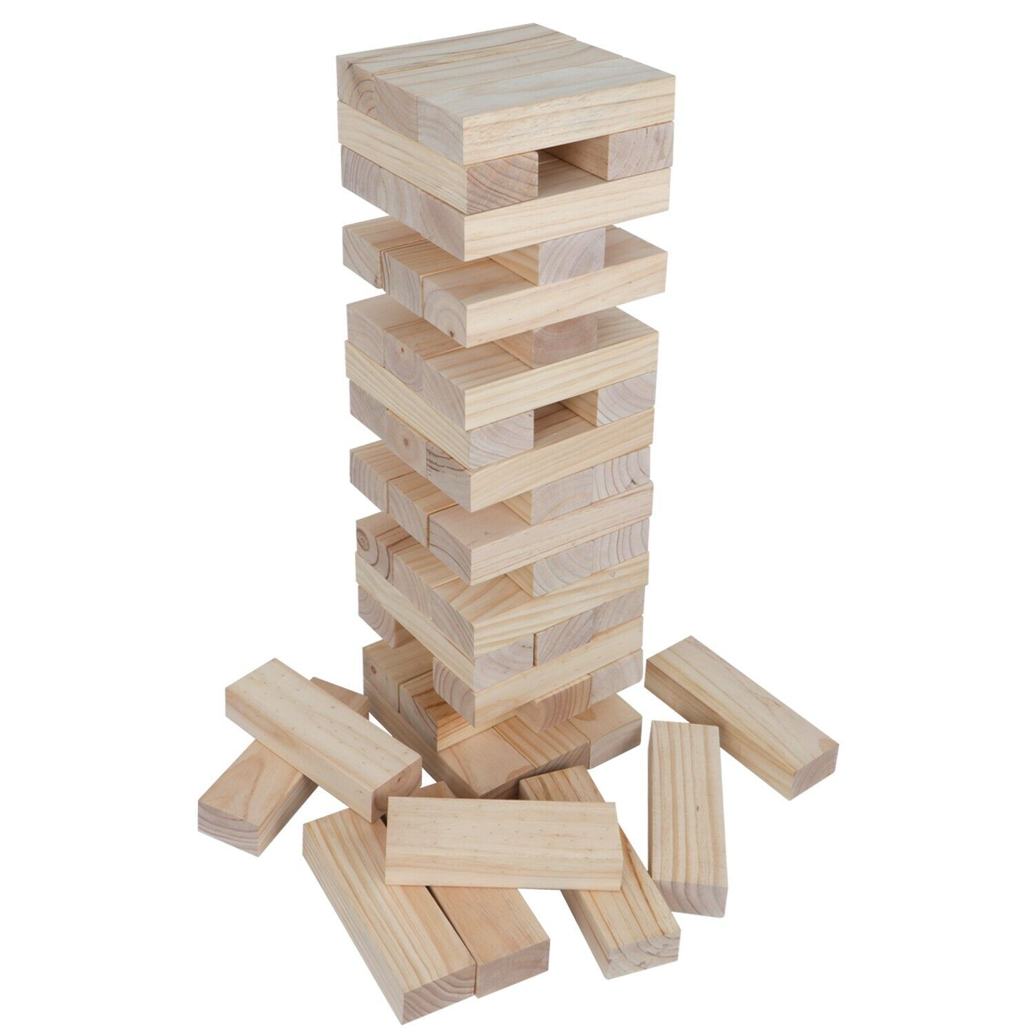 Toppling Tumble Tower Giant No Print Version With Carrying Bag 54 Pieces Backyard Games