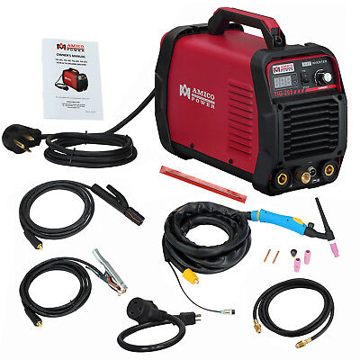 Tig-205 High Frequency 200 Amp Tig-torch Welding Stick Arc Dc Welder Combo New