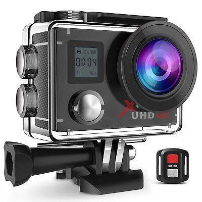 Campark ACT76 Action Sport Kamera 16MP 4K 1080P Wifi mit Dual LCD Bildschirm DE