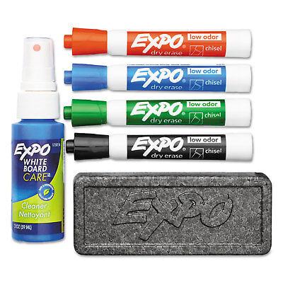 EXPO Low Odor Dry Erase Marker Starter Set Chisel Assorted 4/Set 80653 Dry Erase Starter Set