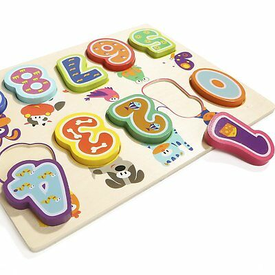 Wooden Number Puzzles for 1 Year Old Girl & Boy Gifts Learning Toys for - 1 Year Old Learning Toys