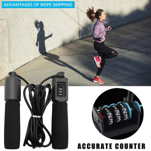 Jump Rope Crossfit Boxing Weighted Adult Ball Bearing Beaded Fitness Gym Speed