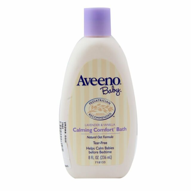 Aveeno Baby Calming Comfort Bath, Lavender and Vanilla (8 fl oz 236ml)