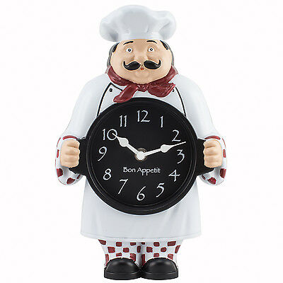 1520G Geneva Clock Company Chef Wall / Tabletop Analog Clock