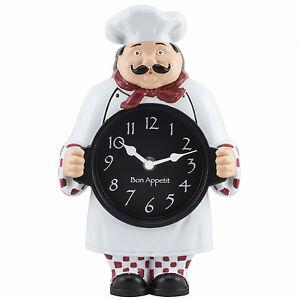 Chef Kitchen Clock Ebay