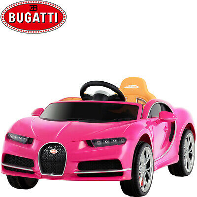 12V Kids Ride On Car Bugatti Chiron Electric with Remote Control Music Fun Pink