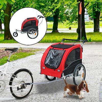 Elite II Large Bicycle Carrier Double Pet Dog Bike Trailer Jogger Stroller Wheel