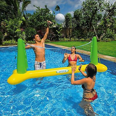 Intex Inflatable Swimming/Paddling Pool Volleyball Net Ball Game