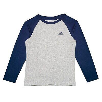 adidas KIDS Cotton Jersey Long Sleeve Baseball Shirt Boys size 4 ()