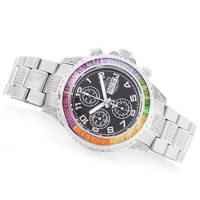 Invicta Reserve Speedway 45mm Rainbow Gemstone Automatic Valjoux Diamond Watch