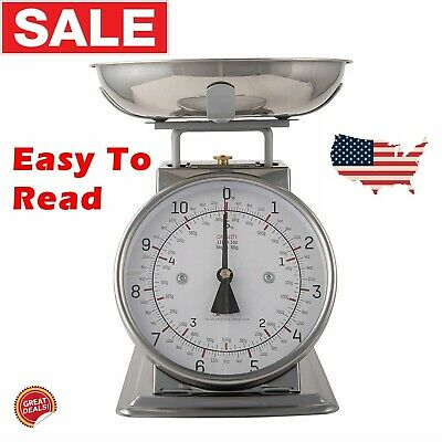 Dial Kitchen Scale Analog Best Mechanical Weighing Small Food Measuring Home