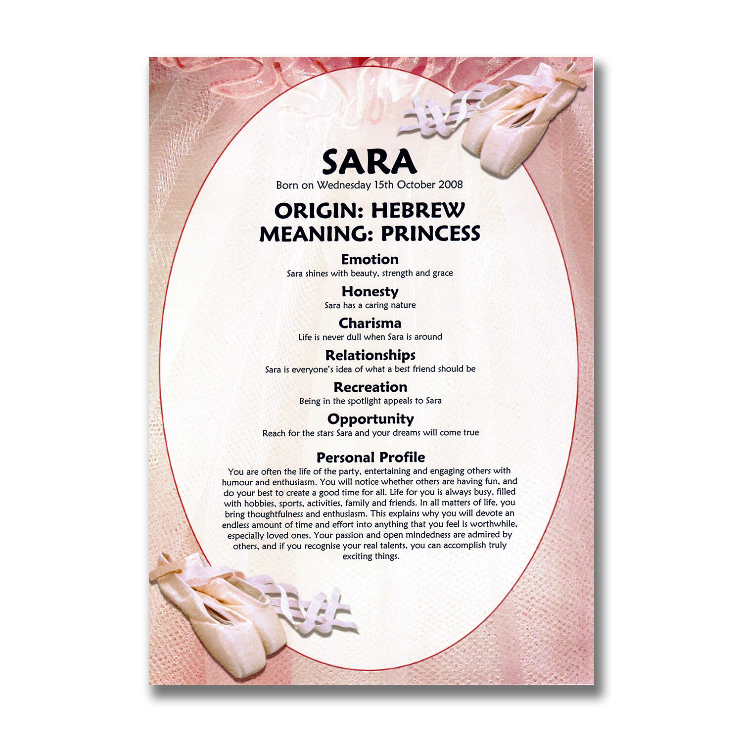 Childrens Pink PRINCESS Personalised A4 Scrapbook Girls Gift Free Delivery