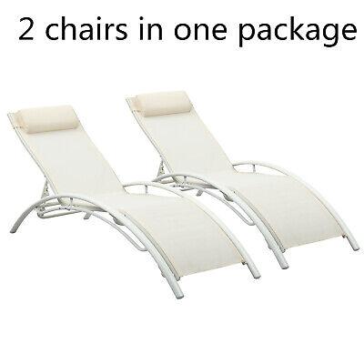 Outdoor Adjustable Chaise Lounge Chair Set Sun Lounger Patio Furniture Recliner (Outdoor Set Recliner)