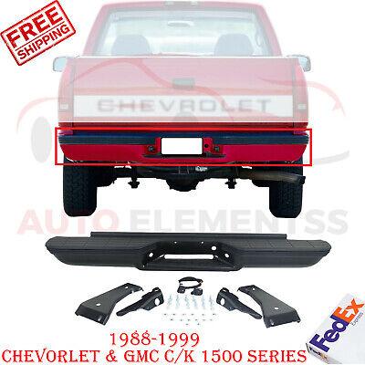 Rear Step Bumper Primed Steel For 88-99 Chevorlet & GMC C/K 1500 Series Stepside
