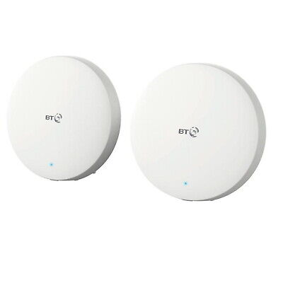 BT Mini Whole Home 1000Mbps Wi-Fi Router Twin Pack Internet Booster
